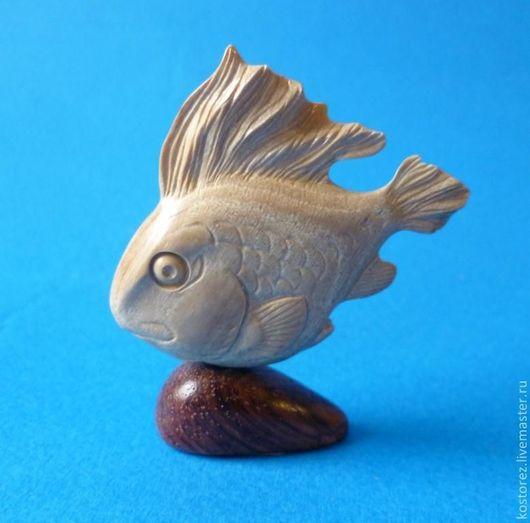 Рыбка пока не продана, но находится в свободной продаже в магазине. Цена 2500р.  Красивый натурального морения бивень мамонта.