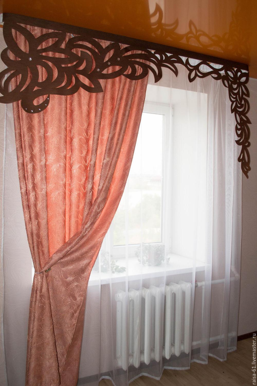 Фото имитации штор с ажуром