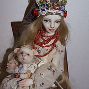 """Куклы и игрушки ручной работы. Ярмарка Мастеров - ручная работа шарнирная кукла """" Славянка"""". Handmade."""
