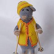 """Куклы и игрушки ручной работы. Ярмарка Мастеров - ручная работа Игрушка из войлока (шерсти) Мышка """"Анфиса"""". Handmade."""