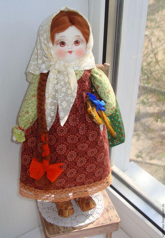 Народные куклы ручной работы. Ярмарка Мастеров - ручная работа. Купить Сонечка 2..повтор.. Handmade. Коричневый, народная кукла