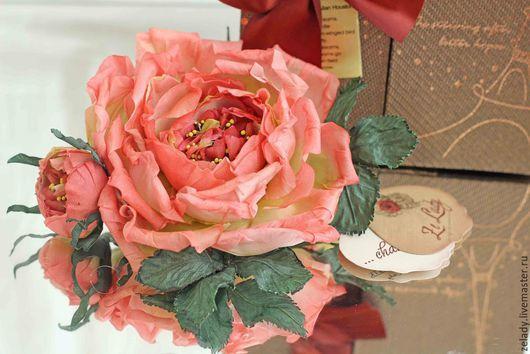 """Цветы ручной работы. Ярмарка Мастеров - ручная работа. Купить Роза из шелка """"Нежный чайный аромат"""". Handmade. Цветы из ткани"""