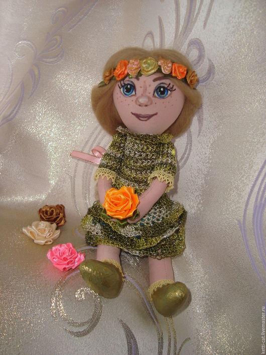Коллекционные куклы ручной работы. Ярмарка Мастеров - ручная работа. Купить Марусечка - текстильная куколка. Handmade. Весна, сувенир из россии