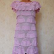 """Одежда ручной работы. Ярмарка Мастеров - ручная работа платье """"розовые веера"""". Handmade."""