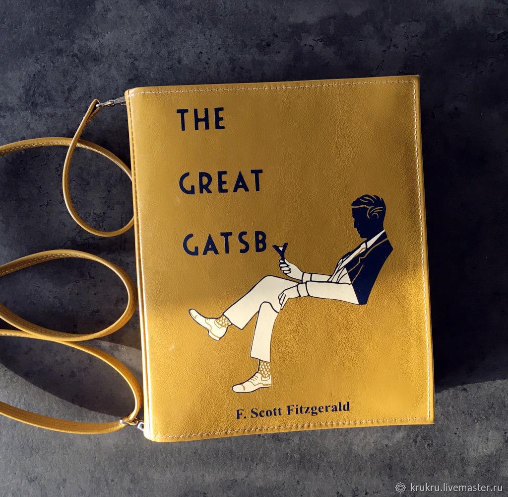 Великий Гэтсби Сумка книга из кожи и кожзама, Классическая сумка, Москва,  Фото №1