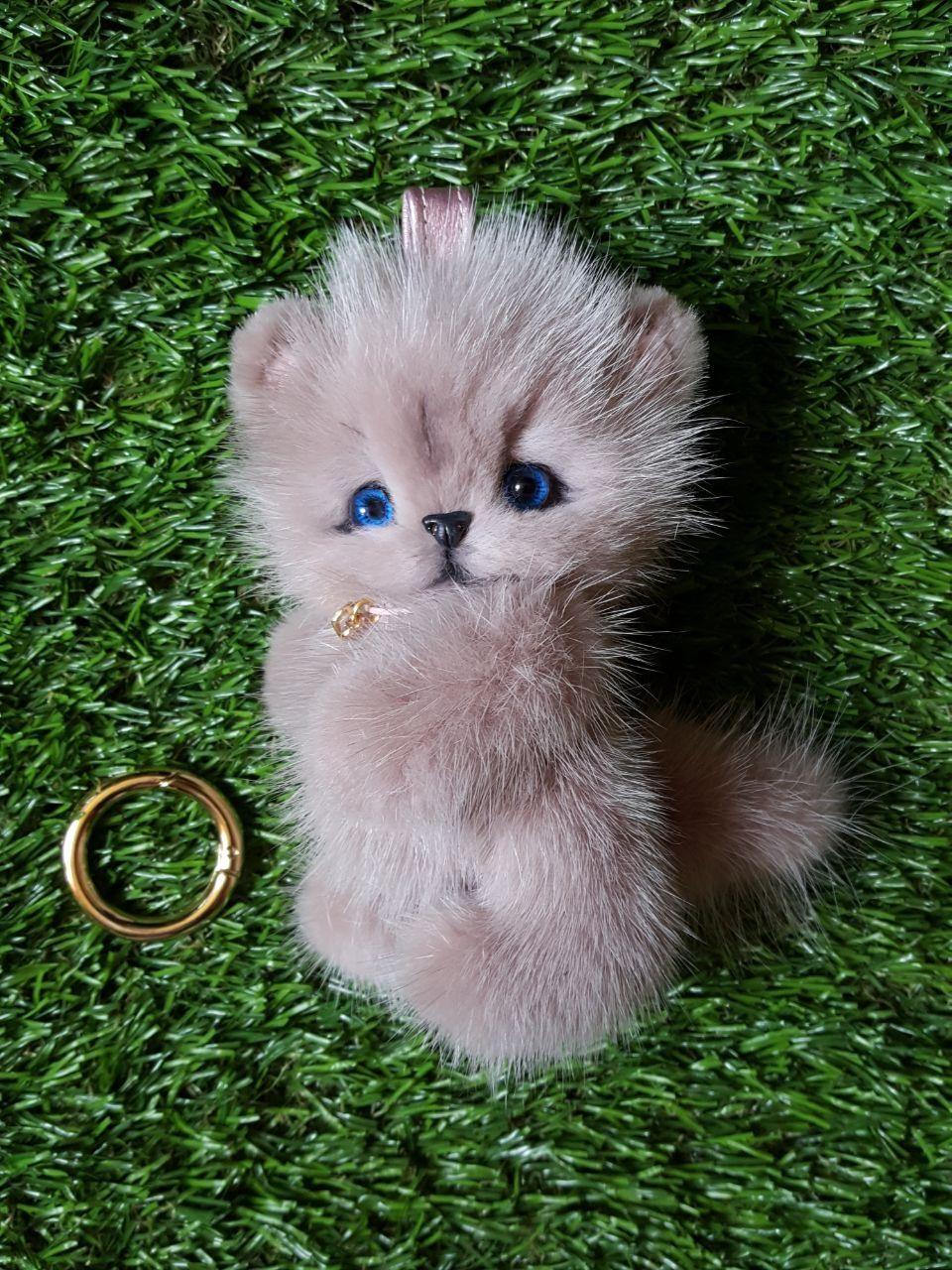 Норковый котёнок,брелок