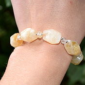 Украшения handmade. Livemaster - original item Yellow citrine bracelet with cut. Handmade.