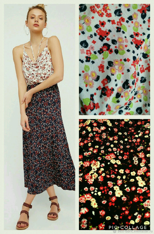 1b446007cc6 Livemaster - handmade. Buy Summer lightweight fabric 100% viscose floral  print ...