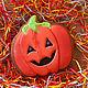 """Подарки на Хэллоуин ручной работы. Пряник """"Тыква на хеллоуин"""". A&E Красивые сладости.. Ярмарка Мастеров. Helloween, тесто"""