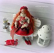 Куклы и игрушки ручной работы. Ярмарка Мастеров - ручная работа Рождественский ангел  Фея Тильда текстильная кукла. Handmade.