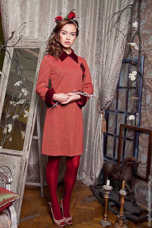 """Платья ручной работы. Ярмарка Мастеров - ручная работа. Купить Платье """"Вишневый сад"""". Handmade. Бордовый, платье с манжетами"""