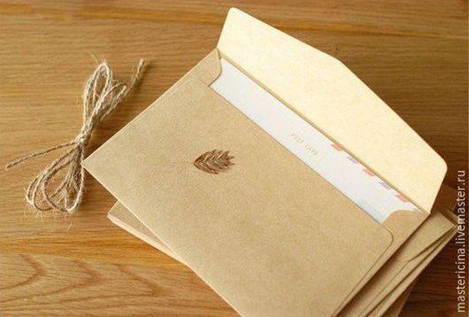 Упаковка ручной работы. Ярмарка Мастеров - ручная работа. Купить Конверты  для упаковки крафт 11Х16 СМ. Handmade. Коричневый, коробочки