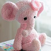 """Куклы и игрушки ручной работы. Ярмарка Мастеров - ручная работа Розовый слоненок тедди """"Пушпа"""". Handmade."""