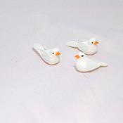Материалы для творчества ручной работы. Ярмарка Мастеров - ручная работа Голуби миниатюрные белые. Handmade.