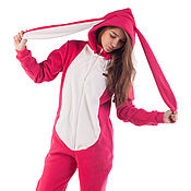 Одежда handmade. Livemaster - original item Home jumpsuit Pink Bunny FUNKY PINK BUNNY SUIT HOME. Handmade.