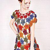 """Одежда ручной работы. Ярмарка Мастеров - ручная работа Платье """"Ты дарила мне розы"""" крючком из тонкой шерсти. Handmade."""