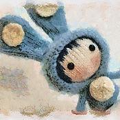 """Материалы для творчества ручной работы. Ярмарка Мастеров - ручная работа Мастер-класс """"Маленькая куколка Голубой Зайка из серии Tanoshi"""". Handmade."""