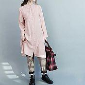 Одежда ручной работы. Ярмарка Мастеров - ручная работа рубашка с длинными рукавами цвета пудры. Handmade.