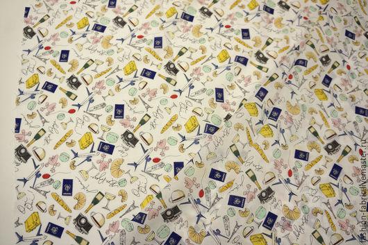 Шитье ручной работы. Ярмарка Мастеров - ручная работа. Купить Ткань Батист Bon Voyage 7121501 Цена за метр. Handmade.