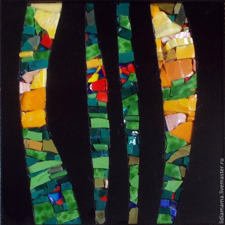 Mosaic. Sunset in the forest the artwork by Olga Petrovskaya-Petovraji