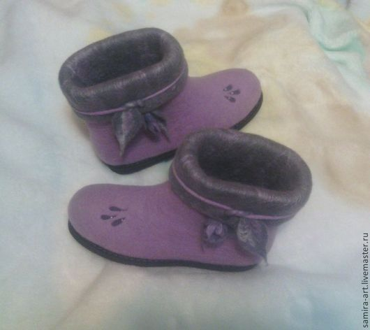 """Обувь ручной работы. Ярмарка Мастеров - ручная работа. Купить Валенки  """"Pinky"""". Handmade. 100% шерсть, обувь ручной работы"""