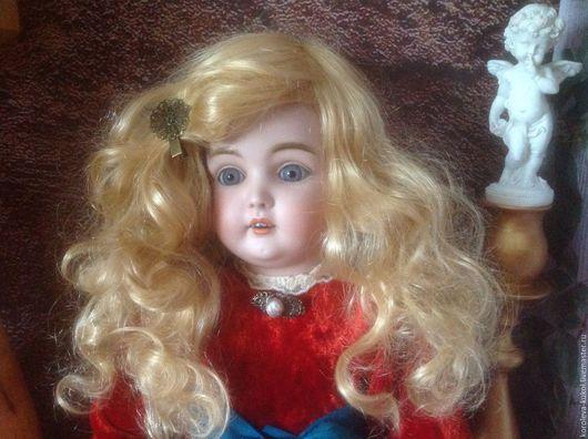 Коллекционные куклы ручной работы. Ярмарка Мастеров - ручная работа. Купить Парик для антик куклы ОГ 30 см. Handmade.
