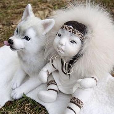 Куклы и игрушки ручной работы. Ярмарка Мастеров - ручная работа Дитя тундры. Айта. Войлочная кукла.. Handmade.