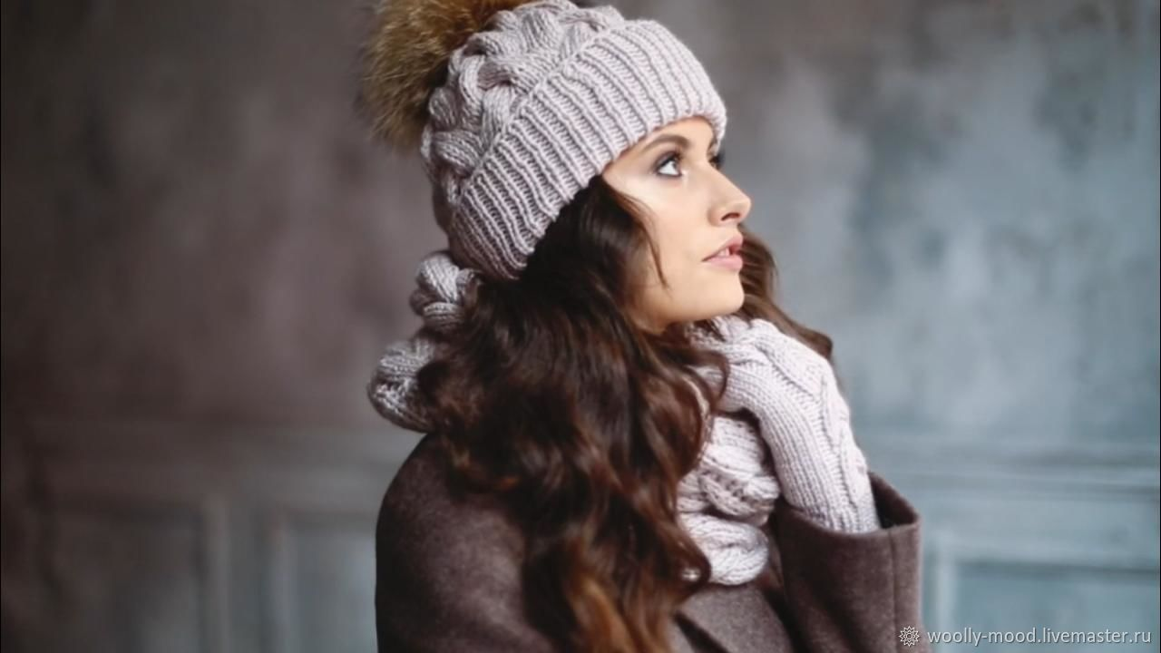 3674c8c23 Knit set hat and Snood handmade – shop online on Livemaster with shipping -  J0FJLCOM | Moscow
