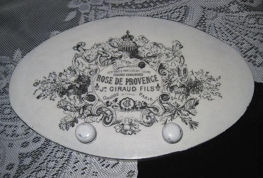 """Кухня ручной работы. Ярмарка Мастеров - ручная работа. Купить Вешалка-панно """"Розы Прованса"""". Handmade. Чёрно-белый, вешалка"""