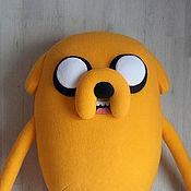 Куклы и игрушки ручной работы. Ярмарка Мастеров - ручная работа Большая мягкая игрушка Джейк (Jake) Время приключений (Adventure Time). Handmade.
