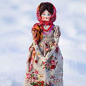 Народная кукла ручной работы. Ярмарка Мастеров - ручная работа Кукла в русском народном стиле на деревянной ложке Анфиса. Handmade.