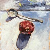 Картины и панно ручной работы. Ярмарка Мастеров - ручная работа Гранат и ложка. Handmade.