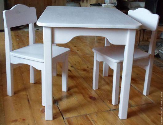 Детская ручной работы. Ярмарка Мастеров - ручная работа. Купить стол и стулья. Handmade. Мебель для детей, мебель из дерева