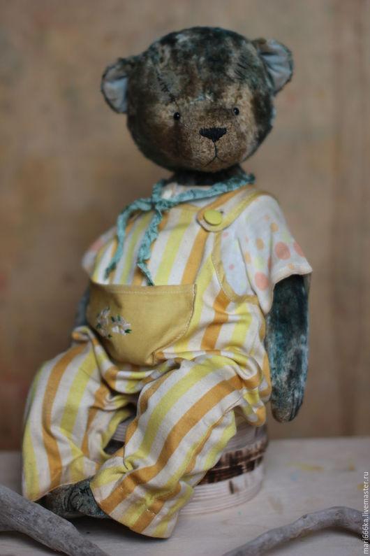 Мишки Тедди ручной работы. Ярмарка Мастеров - ручная работа. Купить Антошка.. Handmade. Зеленый, плюш винтажный