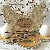 """Подарки к праздникам ручной работы. Ярмарка Мастеров - ручная работа Подставка под яйца """"Курочка счастья"""". Handmade."""