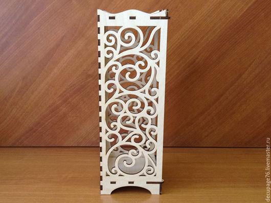 Светильник ажурный (продается в разобранном виде в палетках) Размер: 12х12х35 см Материал: фанера 4 мм