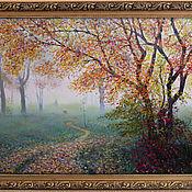 Картины и панно ручной работы. Ярмарка Мастеров - ручная работа Дама с собачкой или синий туман. Handmade.