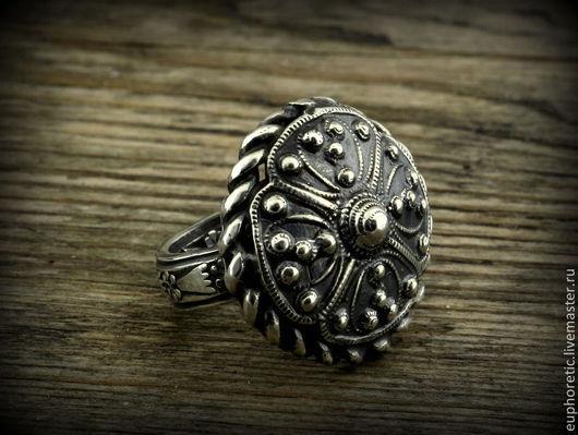 """Кольца ручной работы. Ярмарка Мастеров - ручная работа. Купить """"Лада"""" серебряное винтажное кольцо. Handmade. Серебряный, славянский стиль"""