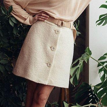 Одежда ручной работы. Ярмарка Мастеров - ручная работа Юбка женская из плотной шерсти. Handmade.