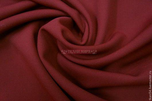 Шитье ручной работы. Ярмарка Мастеров - ручная работа. Купить Ткань кост.03/07, 150 см, бордовый. Handmade. Бордовый