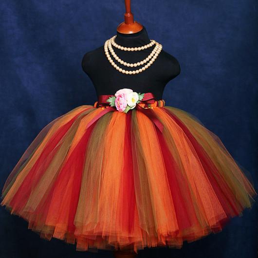 """Одежда для девочек, ручной работы. Ярмарка Мастеров - ручная работа. Купить """"Осенний вальс"""" длинная пышная юбка-пачка из фатина. Handmade."""