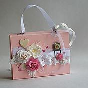 Чемоданчик-коробочка с розами