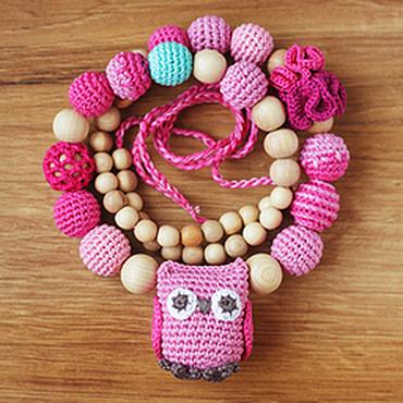 Одежда ручной работы. Ярмарка Мастеров - ручная работа Слингобусы с совой розовые. Handmade.