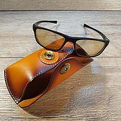Сумки и аксессуары handmade. Livemaster - original item Genuine leather eyeglass case on the belt. Handmade.