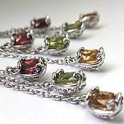 Украшения handmade. Livemaster - original item Silver jewelry set with natural stones. Handmade.