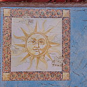 """Для дома и интерьера ручной работы. Ярмарка Мастеров - ручная работа Коробка-чемодан """"Солнце и Луна"""". Handmade."""