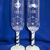 Свадебный салон ручной работы. Ярмарка Мастеров - ручная работа Свадебные фужеры с гравировкой. Handmade.