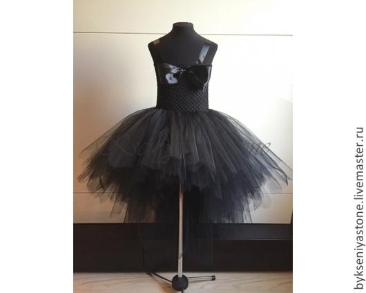 Туту платье `Черный лебедь` со шлейфом, мастер Kseniya Stone +79268365887