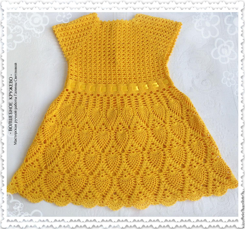 Knitted baby dress for girls summer dress Sun – shop online on