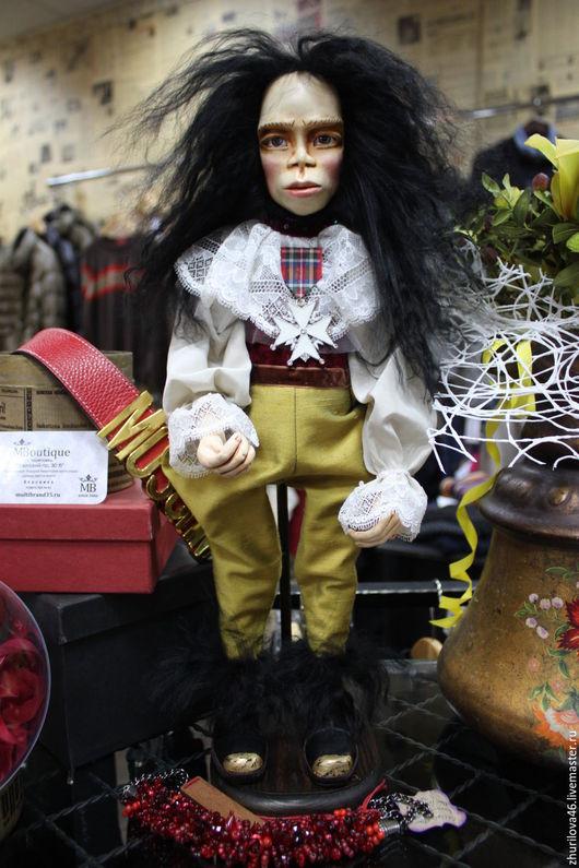 Коллекционные куклы ручной работы. Ярмарка Мастеров - ручная работа. Купить Король и королева обезьян. Handmade. Черный, подарок, паперклей